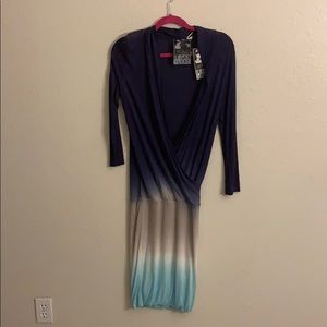 Young, fabulous, & broke ombré navy dress, small